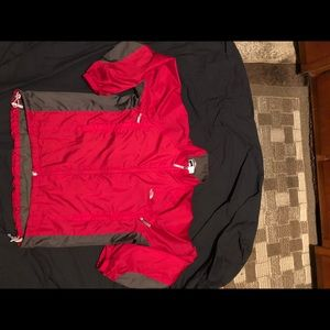The north face lined wind/rain jacket men's M